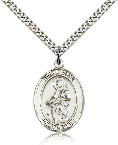 ST. Jane of Valois Sterling Silver
