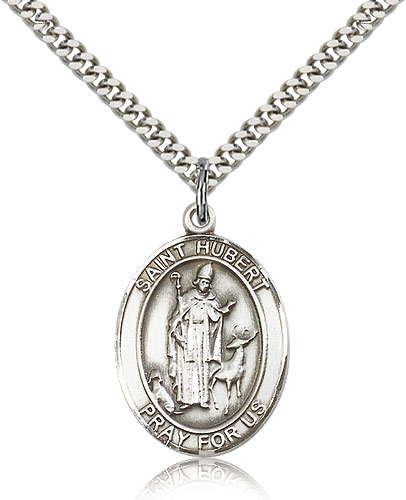 St. Hurbert of Liege Sterling Silver