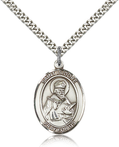 ST. Isidore of Seville Sterling Silver