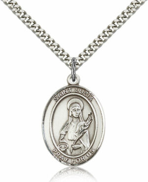 ST. Lucia of Syracuse Sterling Silver