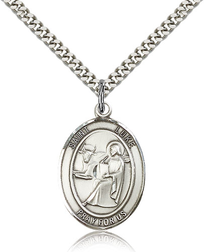 St. Luke the Apostle Sterling Silver