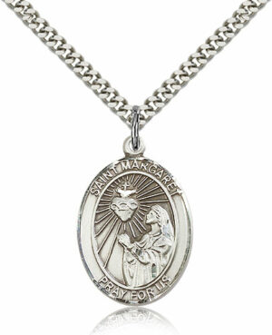 ST. Margaret-Mary Alacoque Sterling Silver
