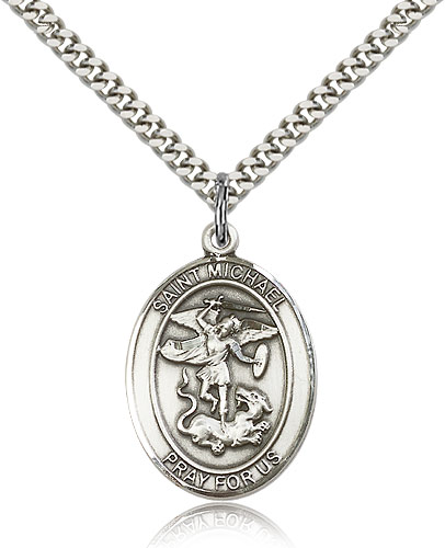ST. Michael the Archangel Sterling Silver