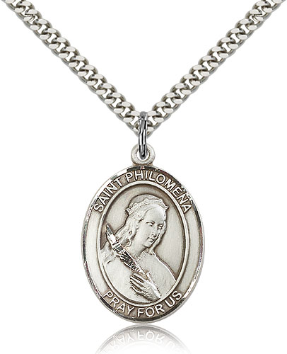 St. Philomena Sterling Silver