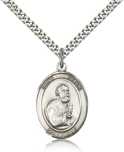 ST. Peter the Apostle Sterling Silver