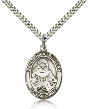 ST. Julie Billiart Sterling Silver