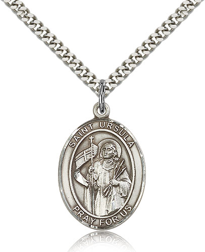 ST. Ursula Sterling Silver