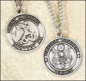 St. Michael Army Medal and Chain