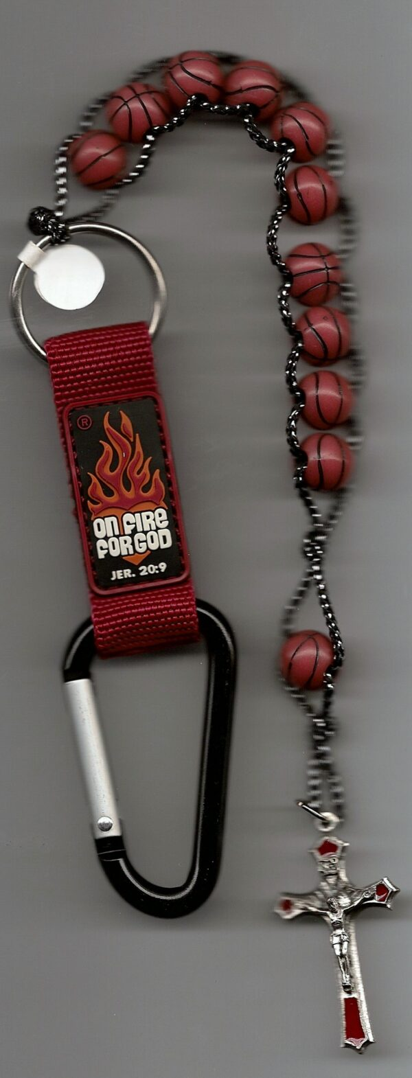 Basketball Rosary Key Chain