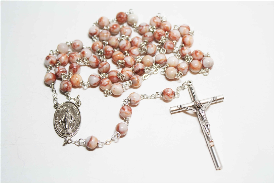 Red Crazy Agate Rosary