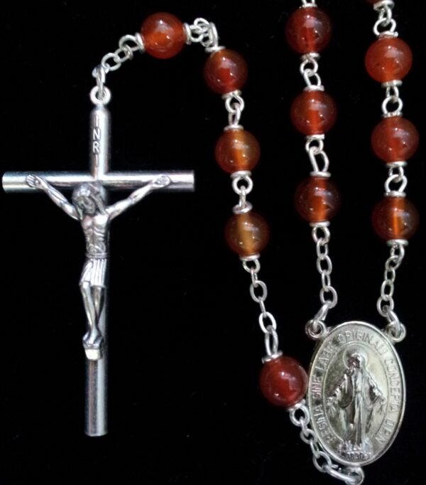 Carnelian Natural Stone Rosary