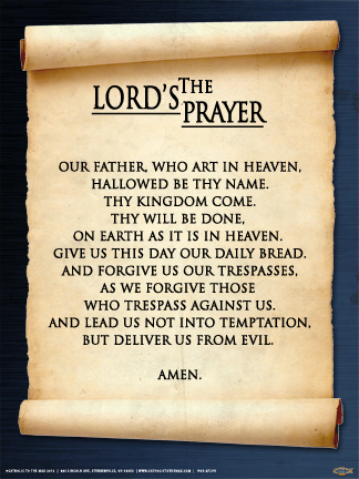 Poster: The Lord's Prayer