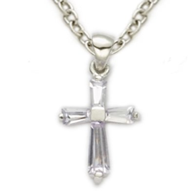 Birthstone Cross Necklace: June