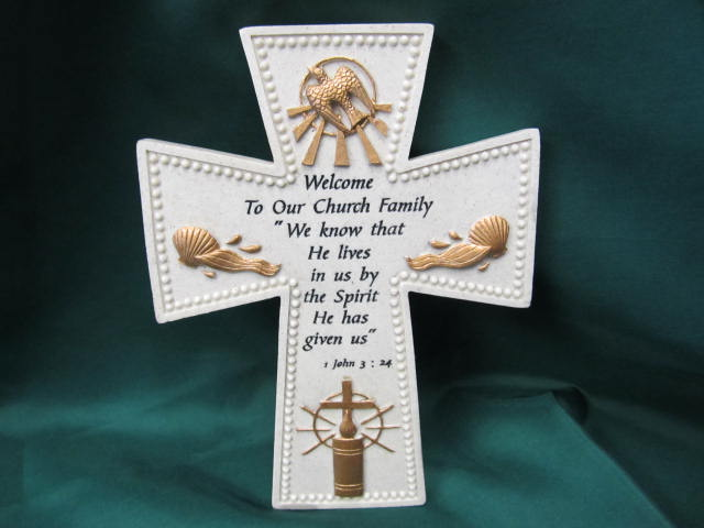 Welcome to Our Church Family Wall Cross